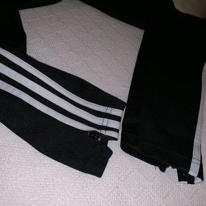 adidas Pants - Black adidas pants w white stripes